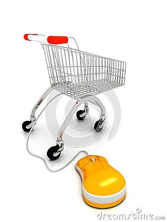 Internet shopping concept