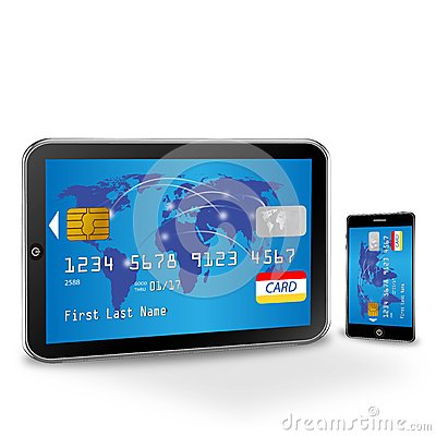 Internet shopping with credit card