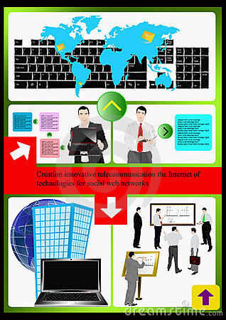 The internet technologies website.Vector