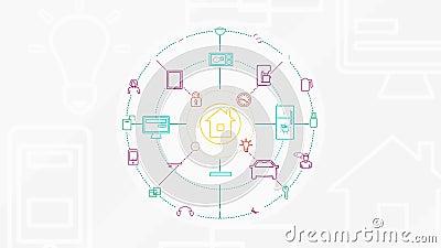 Internet von Sachen und von intelligentem Hauptkonzept 4K