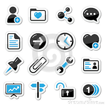 Free Internet, Web Icons As Labels Royalty Free Stock Photography - 26044907