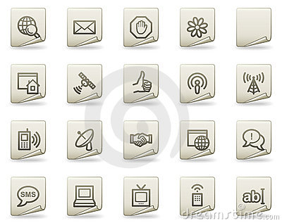 Internet web icons, document series