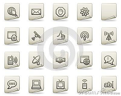 Internet web icons, document series