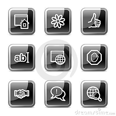Internet web icons, glossy buttons series