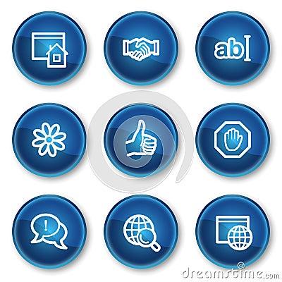 Internet web icons set 1, blue circle buttons