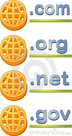 Internet website domain extensions