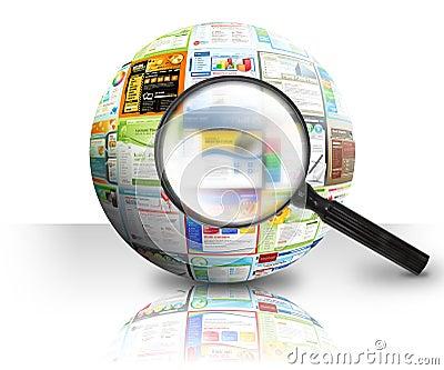 Internet Website Search 3D Ball