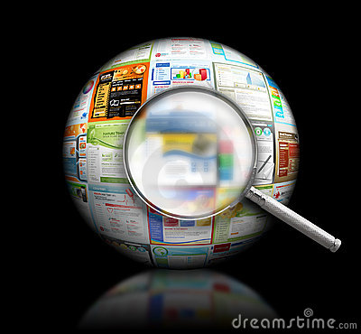 Free Internet Website Search Black 3D Ball Royalty Free Stock Image - 18958436