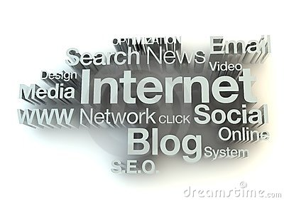 Internet words concept