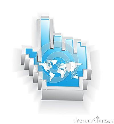 Internet world map