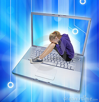 Internetcyber-Tyrannisieren