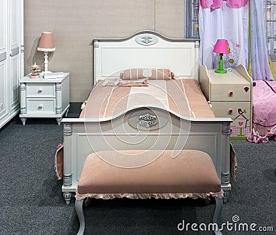 ragazze della camera da letto piccolo colore rosa fotografie stock ... - Interni Ragazze Camera Design