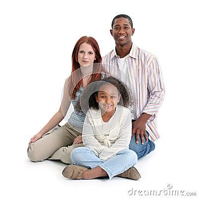 Free Interracial Black And White Family Royalty Free Stock Photo - 8152685
