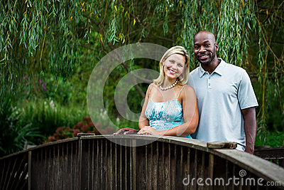 Interracial Couple at a Park