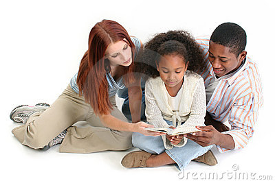 Interracial Family Reading Bible