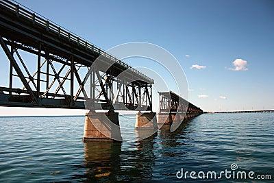 Interrupted rail bridge to key west