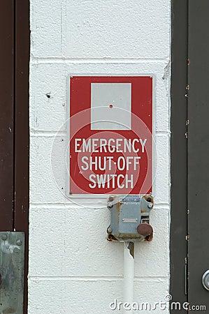 Interruptor de emergência