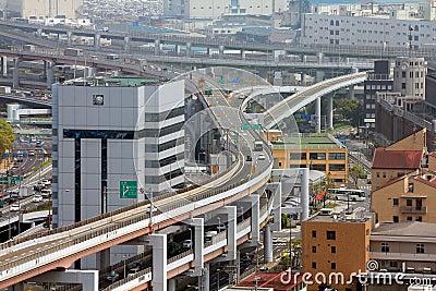Intersección del camino en Japón