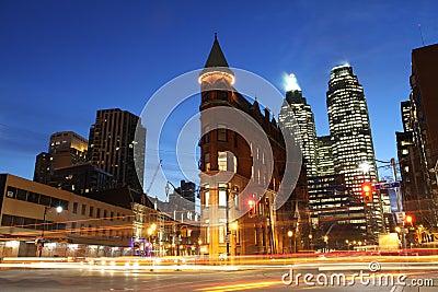Intersección de Toronto Fotografía editorial