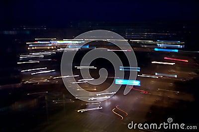 Intersection la nuit