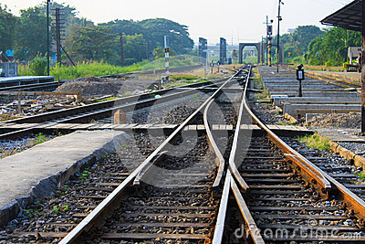 Intersection of railway lines