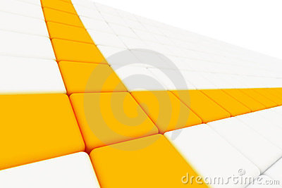 Intersection of two orange lines