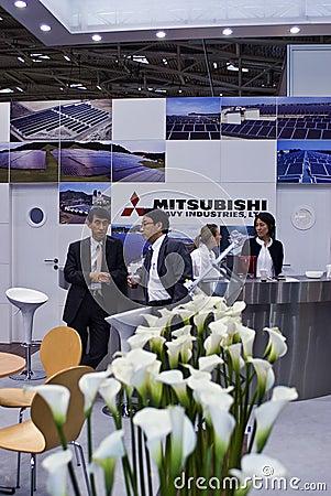 Free Intersolar 2009 -Mitsubishi Heavy Idustries Booth Stock Photo - 9622890