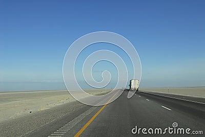 Interstate highway across Utah desert