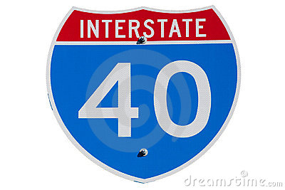 Interstate I-40 sign