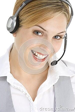 Intervenant du service client attrayant