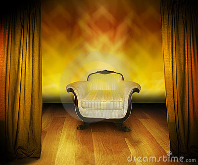 Interview chair on stage