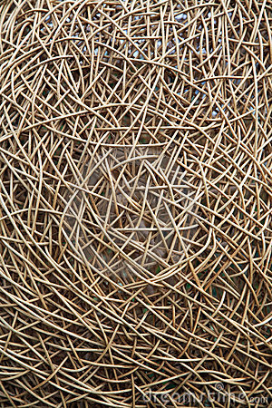 Interwoven wicker material