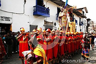 Inti raymi.The incas king Editorial Image