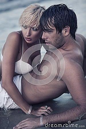 Free Intimacy On The Beach Royalty Free Stock Photos - 21433578