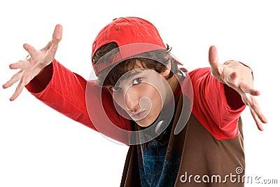 Intimidating teenage boy