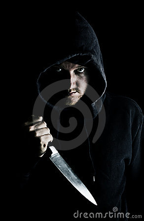 Intimidating Youth with Knife