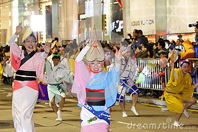 Hong Kong :Intl Chinese New Year Night Parade 2013 Editorial Stock Image