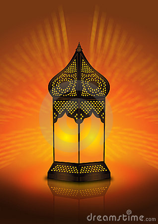 Intricate arabic floor lamp