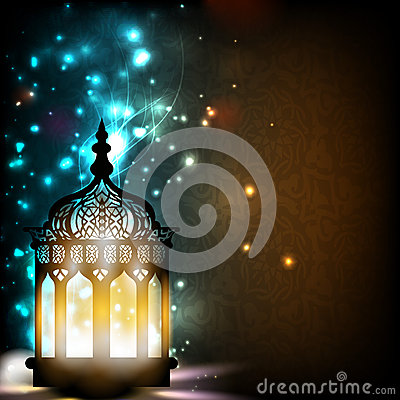 Free Intricate Arabic Lamp With Lights. Royalty Free Stock Photo - 26044885