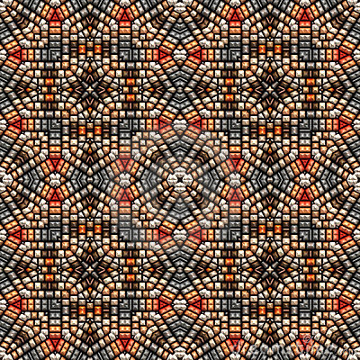 Intricate bead art