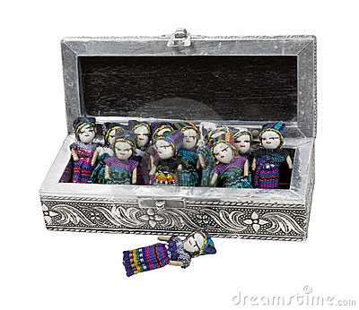 Intricate Box of Worry Dolls