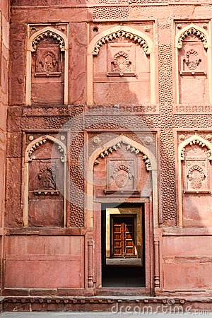 Free Intricate Carvings Decorate The Agra Fort In Agra, India Royalty Free Stock Photography - 119196297