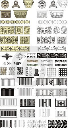 Intricate designs Vector Illustration