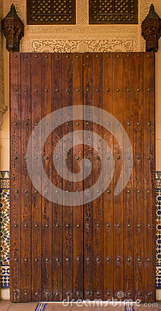 Intricate door Moroccan style