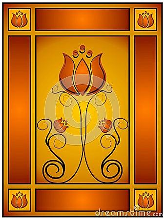 Intricate Gold Floral Design