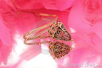 Intricate gold necklace