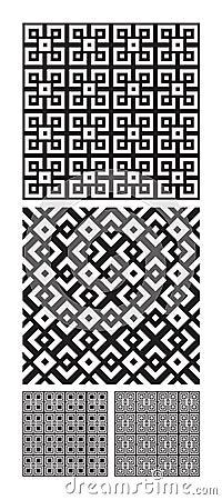 Intricate interlocking designs