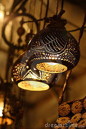 Intricate lampshades