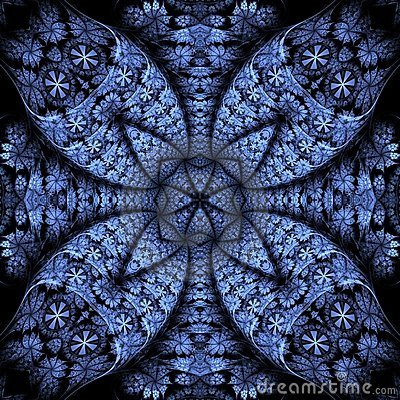 Intricate Lines, Blue Texture Abstract
