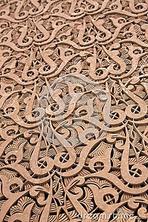 Intricate Moroccan stone work